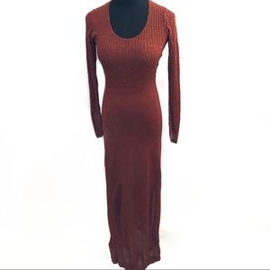 Gorgeous 70's thick knit sweater dress
